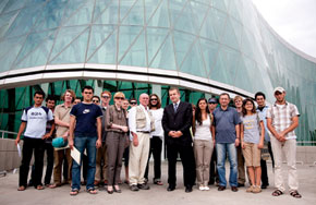 NSRS team with Deputy Minister Shota Utashvili in front of new interior Ministry Building, Tbilisi