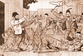 The cartoon which caused the magazine's closure in 1907