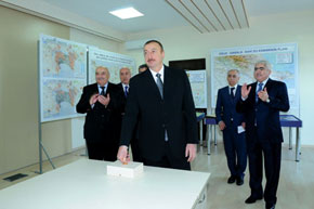 President Ilham Aliyev switches on the Oghuz-Qabala-Baku water pipeline