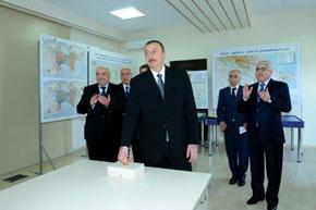 President Ilham Aliyev switches on the Oghuz-Qabala-Baku water pipeline
