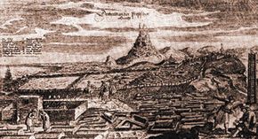 General view, the city of Derbend. 1638