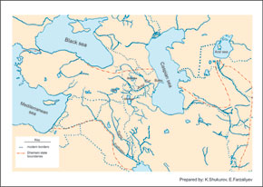The State of Ahmani. 6th - 4th centuries BC (on modern maps)