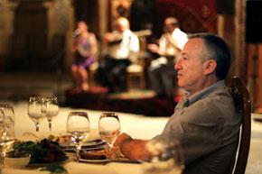 Relaxing in the Mugham Club, Baku