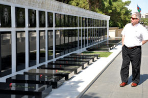 Avenue of Martyrs – the graves of those killed on 20th January 1990 and in Karabagh
