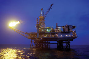 Offshore platform in the Caspian Sea