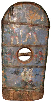 Apparatus used in a zorkhana – 'Yekbaghir' (or 'sang' – this was a wooden apparatus in two parts; it from 60kg to 200kg). The National Historical Museum of Azerbaijan