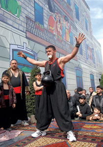 Zorkhana games at Novruz; feats of strength with the 'gir'