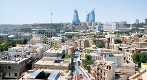 General view of Baku, capital of the Azerbaijan Republic