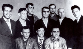 Azerbaijani boxers. Abbas Agalarov is first on the right, front row. 1930