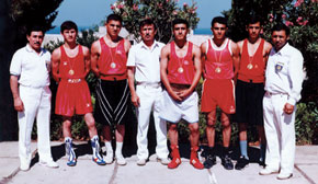 The Azerbaijani boxing team at the European Youth Championship in Italy