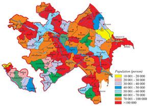 Population distribution in the Azerbaijan Republic. Source: Demographic Indicators of Azerbaijan. Baku, 2011