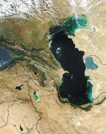 The Caspian region. View from space