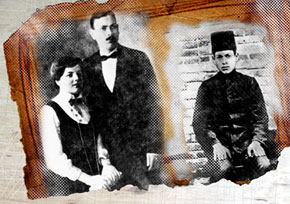 Ahmad Javad and his wife Shukriyya khanim. 1917. Ahmad Javad. 1912