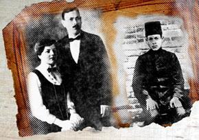 Ahmad Javad and his wife Shukriyya khanim. 1917. Ahmad Javad. 1912