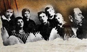 Ahmad Javad with his family. 1927. Ahmad Javad in prison. Bayil jail, Baku 1937