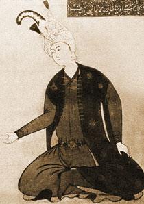 Portrait of Shah Tahmasib. artist, Sultan Muhammad. Istanbul, Top-kapi Museum. 1540s