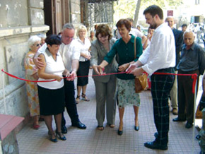 Mrs Quinta Woodward from Community Shield Azerbaijan opening the Shelter for the Elderly & Homeless in Baku