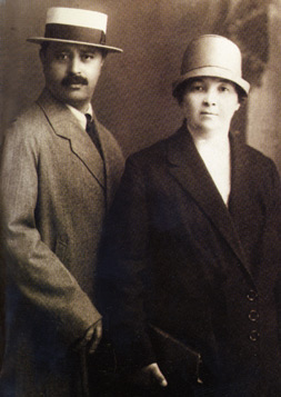 Uzeyir Hajibeyov and his wife Maleka in 1926