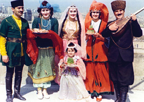 Basti Jafarova, Azerbaijani actress in the role of