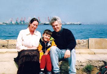The Senarslan family at the Caspian Sea