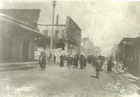 Bazarnaya street (now Husu Hajiyev st.) after the tragedy. March 1918. Photo: Vilkovski