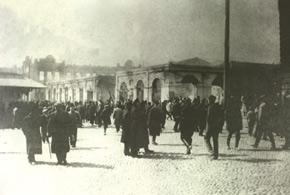 Gubernatorski street (Nizami st.) after the events. March 1918. Photo: Vilkovski