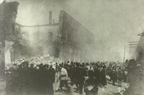 Bazarnaya street (now Husu Hajiyev st.) after the tragedy. March 1918. Photo: Vilkovski