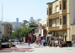Carpet and souvenir shops in the Inner City