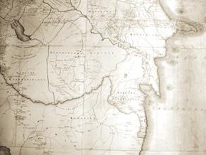Caucasus regional map 1817, Azerbaijani khanates, Source: British National Archives