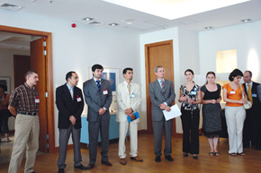 Laurie Bristow and Azerbaijani Chevening scholars, 2006/2007
