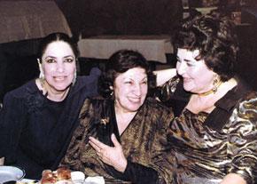 Gamar Salamzadeh with well-known Azerbaijani art workers