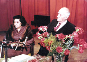 Gamar and Salam Salamzadeh on S.Salamzadeh´s birthday
