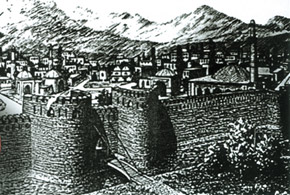 View of Beylagan (painting), a town in medieval Karabakh