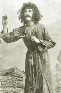 Huseyngulu Sarabski playing Majnun, Baku, 1908