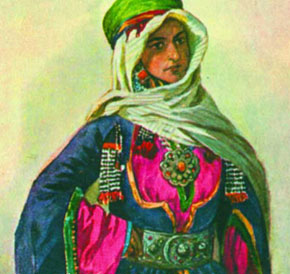 Mountain Jewish woman from Quba by Max Tilke (19th century painting)