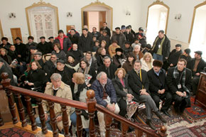 Delegation visiting the new synagogue in Quba