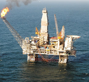 Azeri-Chiraq platform in the Caspian Sea