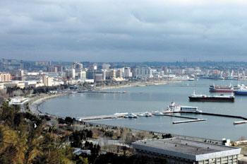 A view of Baku bay