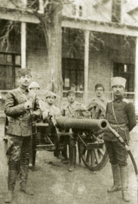 ADR army artillerymen, officers and soldiers, 1920