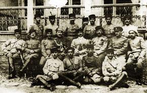 Azerbaijani and Turkish military officers, 1918