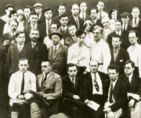 Young Landau with his European colleagues