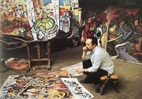 Togrul Narimanbayov in his studio