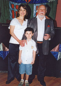 Togrul Narimanbayov with his family