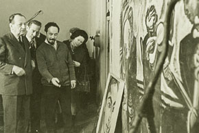 André Malraux in the painter´s studio, 1969