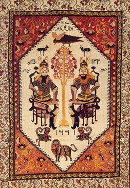 Rustam and Sohrab, carpet of the Karabakh school