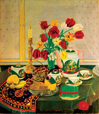Novruz Day by Kamil Babayev, oil on canvas