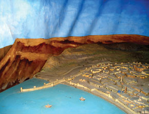 Model of Baku in the 12th century