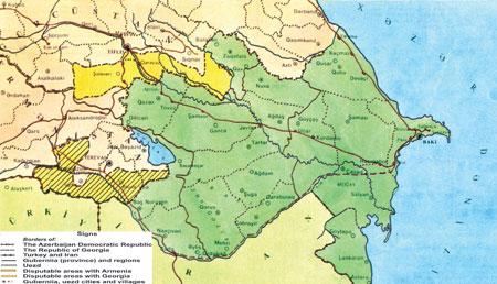 Картинки по запросу map of azerbaijan democratic republic