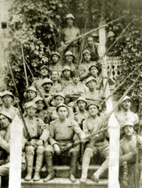 Infantry unit of the Azerbaijan National Army. Around 1919