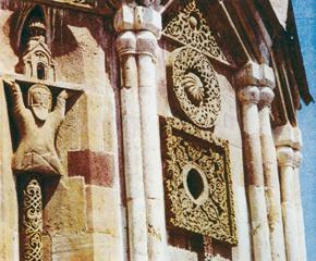 Gandzasar. The decorative design of the cupola´s drum